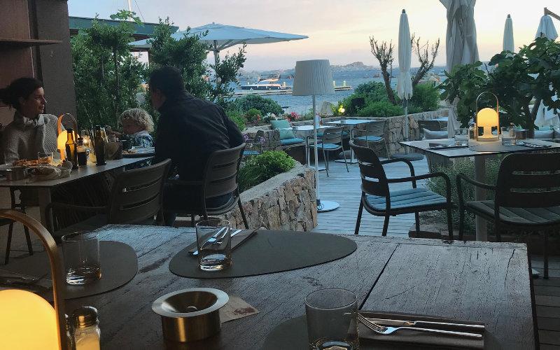 Bistro and café at Cavallo Island